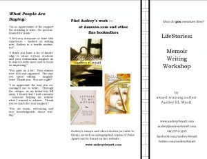 """LifeStories: Memoir Writing"""